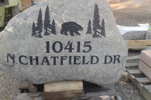 address sign chatfield