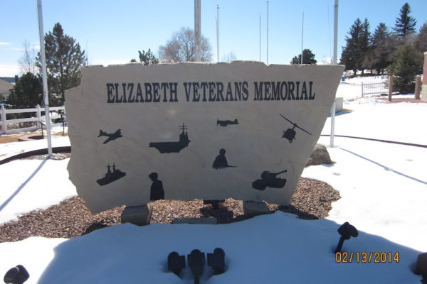 Elizabeth Veterans Memorial Plaque | Military & Veterans Monuments | Mile High Memorials | Denver CO