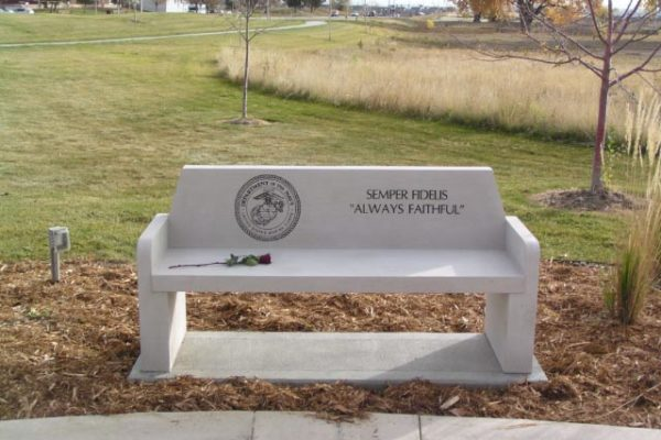 Marines Memorial Bench | Veterans Monuments | Mile High Memorials | Denver CO