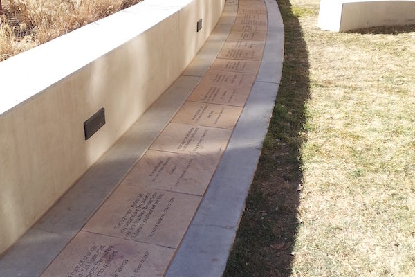 Memorial Walkway with Names | Civic Monuments | Mile High Memorials | Denver CO