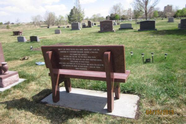 Custom Memorial Benches Gallery Denver, Colorado | Mile High Memorials