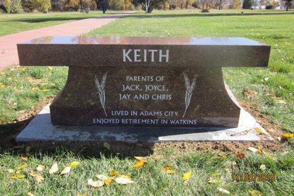 Keith back