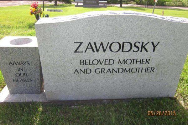 Zawodsky vase back